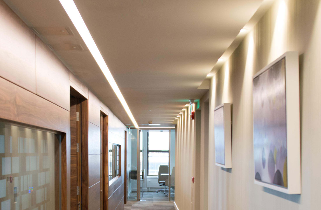 Office Corridors with Deltalight and Concord Track and Spots