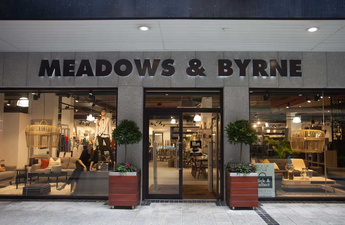 Prelux LED Downlighters at Meadows & Byrne Entrance