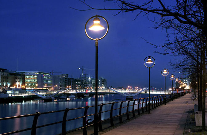 Bega Street Lighting on Sir John Rogerson's Quay Dublin