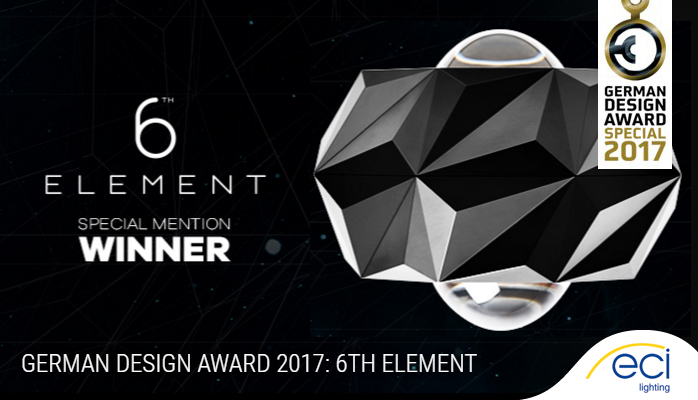 Roxo 6th Element Wins Major Design Award & ECI Lighting | Industry News azcodes.com