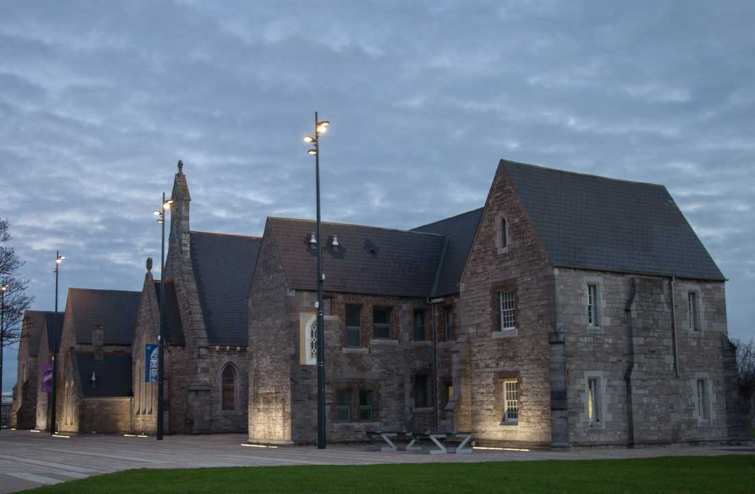 Bega Inground Wall Washers were selected to imlluminate the historic buildings