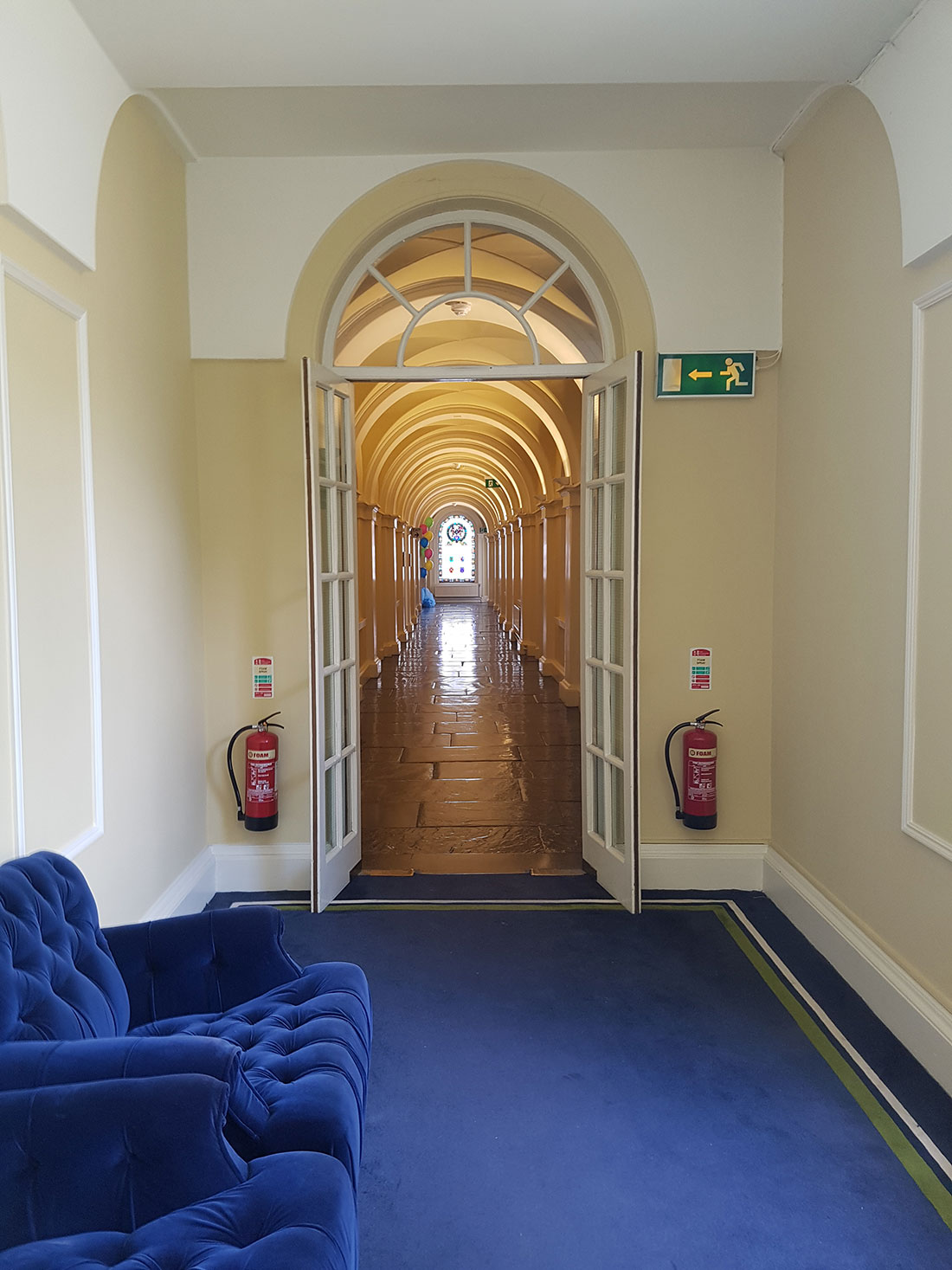 Lighting in the Corridors of the Law Society Ireland
