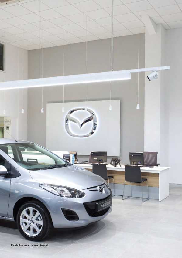 Concord Luminaires in a Car Showroom