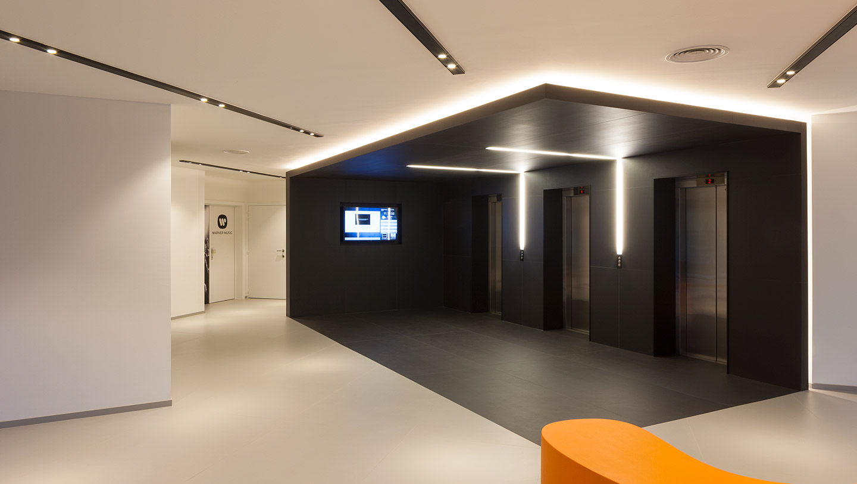 Office Hallway Lighting from Orbit
