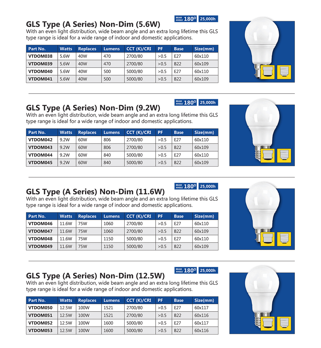 Venture GLS Type Lamps