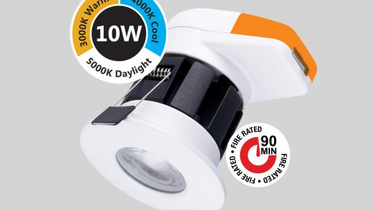 Prelux LED Shield Fire-Rated CCT Changeable Downlight