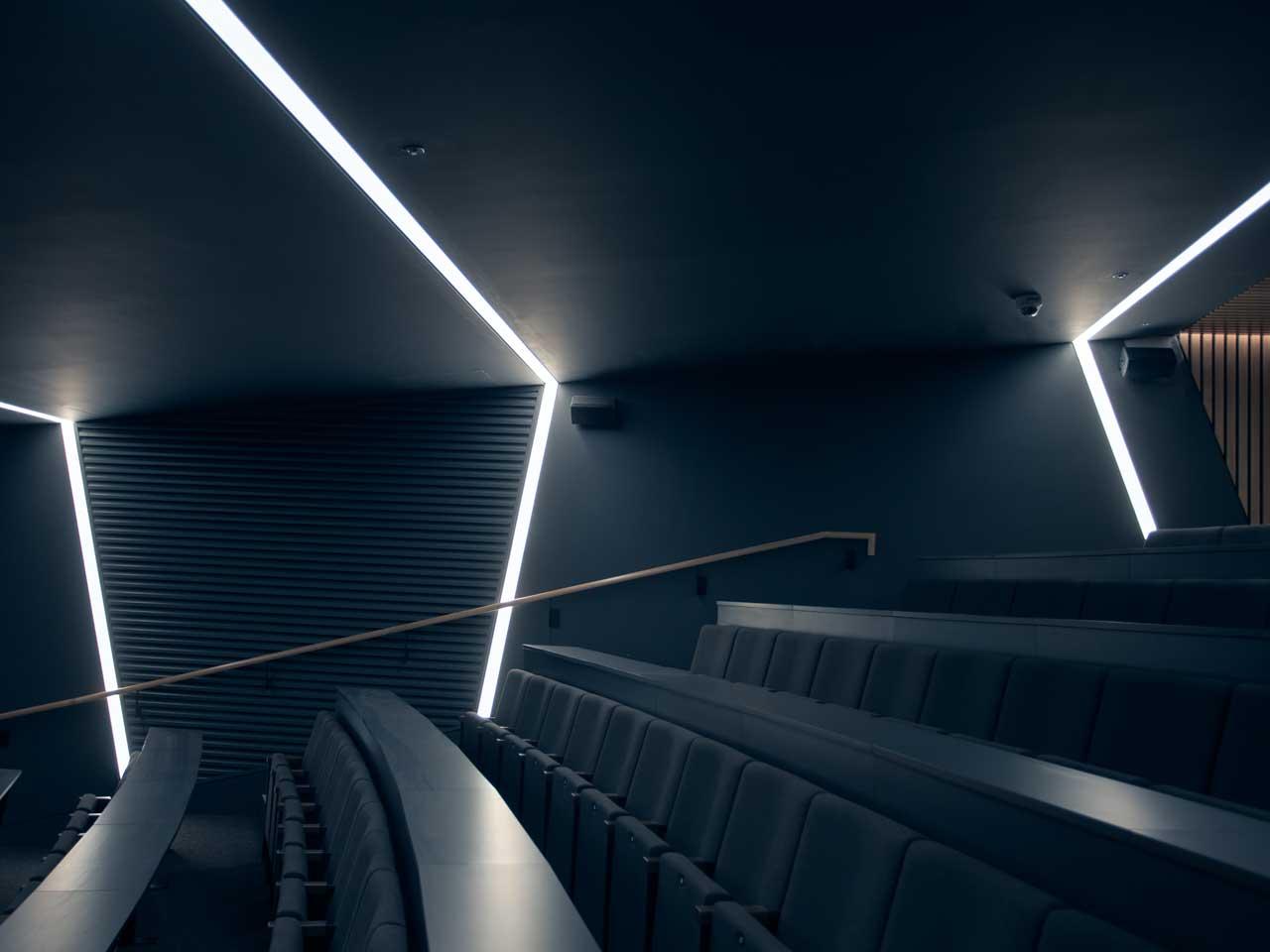 Regent Lighting profiles run vertically and horizontally for maximum visual impact