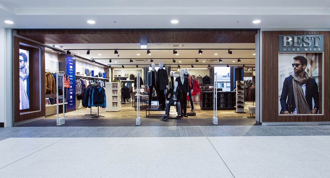 ECI Retail Lighting Project at Best Menswear in Jervis Street, Dublin