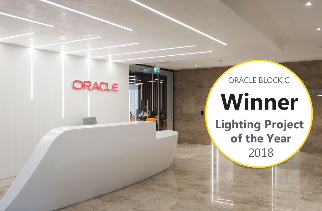Lighting Project of the Year 2018 Oracle Block C