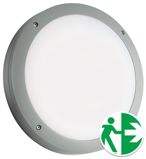 Prelux Venus Emergency Grey Round LED