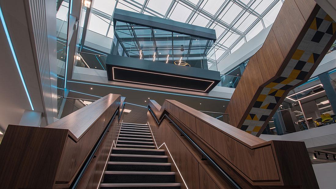 Stairwell lighting in Oracle EMEA