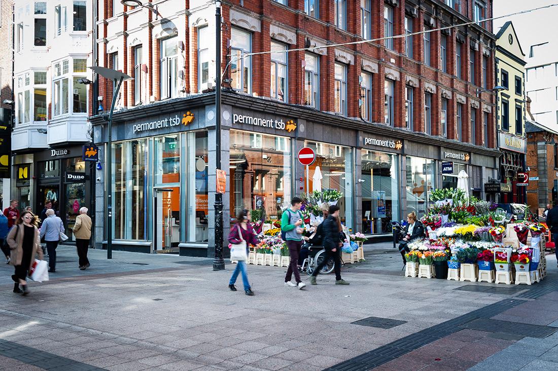 External view of PTSB Grafton Street Dublin