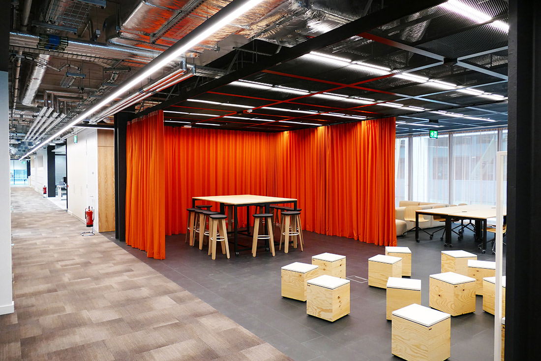 Collaboration area in JP Morgan Dublin
