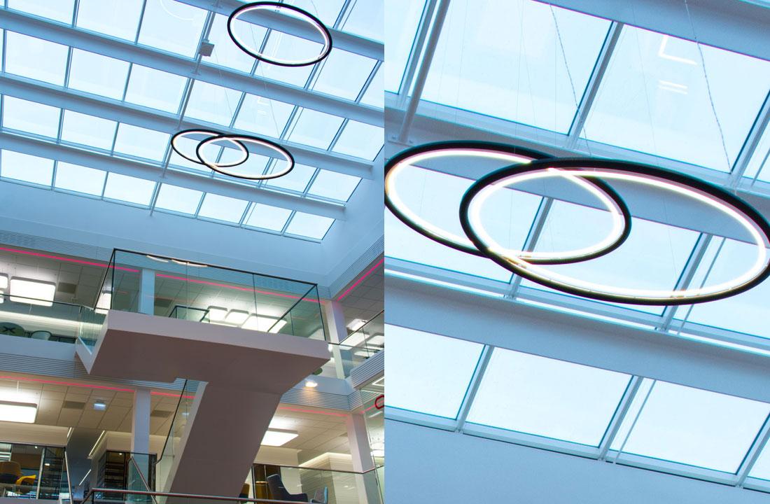 Atrium Lighting pendants in Oracle EMEA