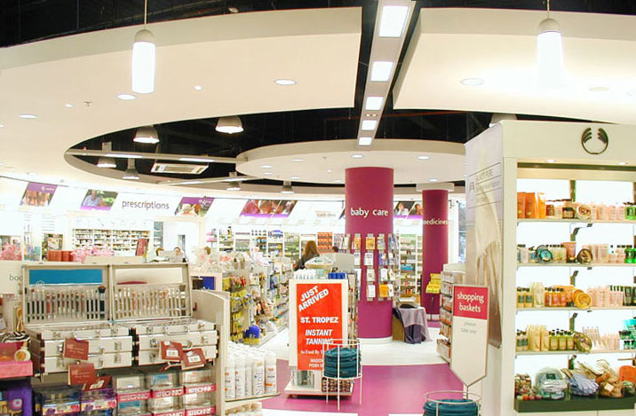 McCabes Pharmacy Lighting Dublin