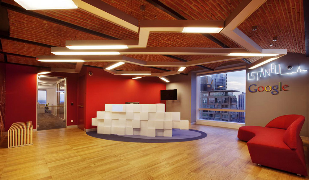 Google Istanbul Headquarters designed by Orbit Lighting