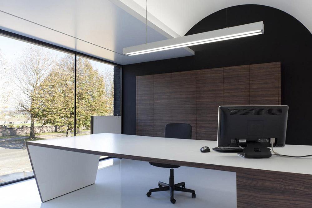 Orbit Lighting Profiles Installed in an Office