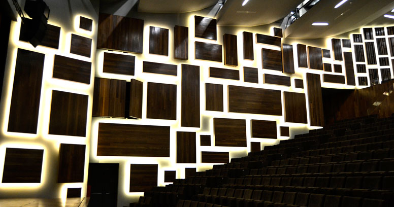 Auditorium in an Arts Centre by Roxo Lighting