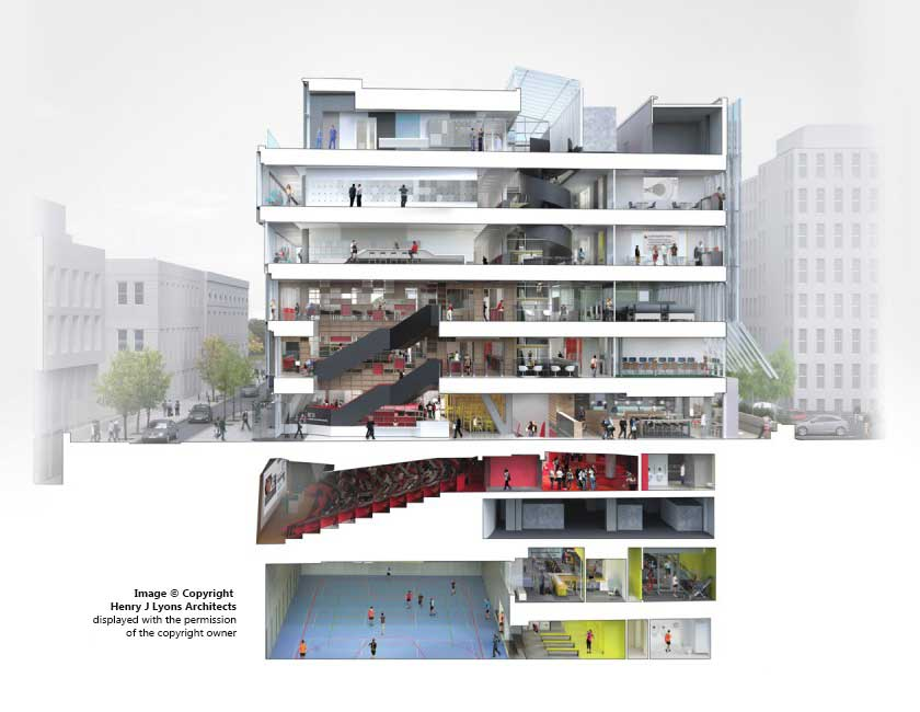 RCSI Academic Building by Henry J Lyons Architects