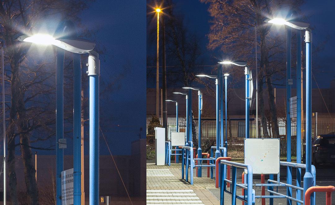 Prelux Hi-Tower LED Public Lighting at the Royal Liver Business Park