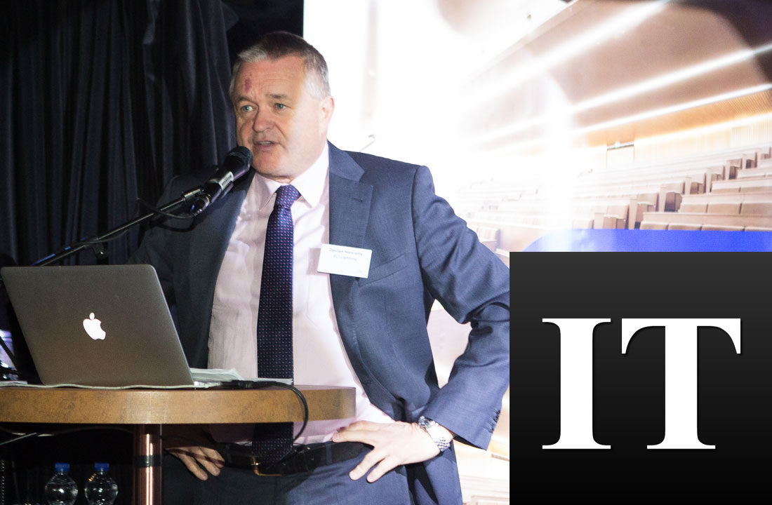 Declan Hanratty, Managing Director, ECI Lighting in Irish Times