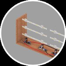 Tension LED Retrofitting System