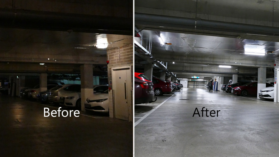 Hilton Car Park LED Lighting as a Service Upgrade