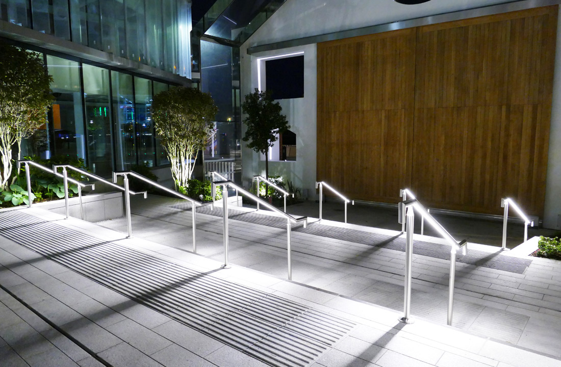 LiniLED Handrail Installation at 1 Sir John Rodgerson's Quay Dublin