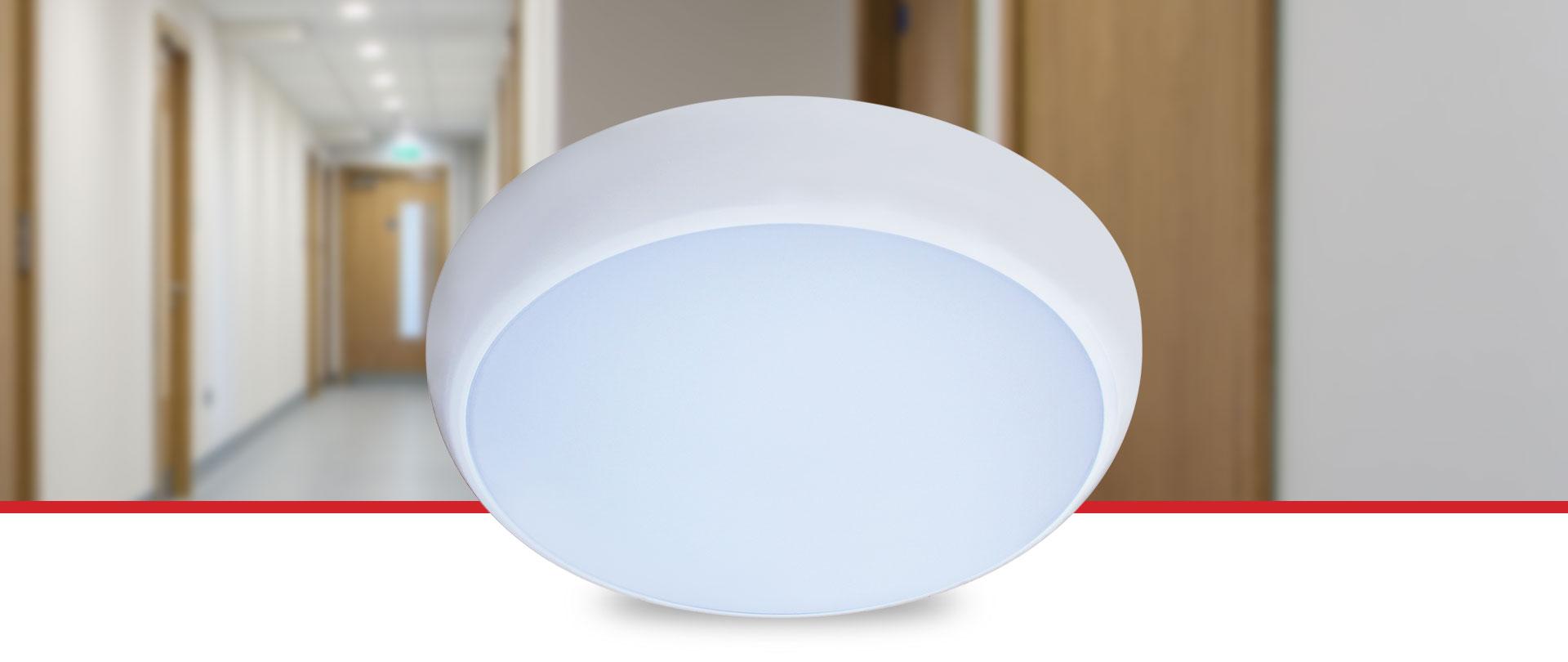 Oslo Multi Wattage LED Bulkhead - Colur Temperature Selectable